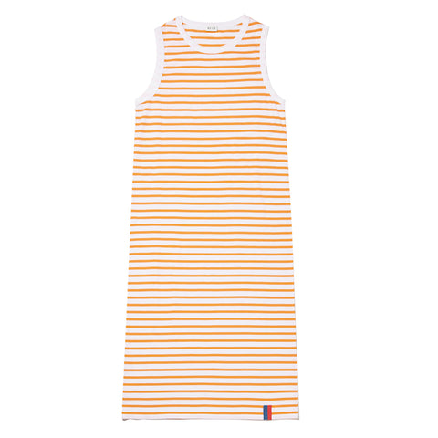 The Tank Dress - White/Orange