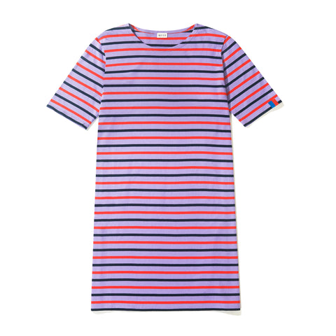 The Tee Dress - Purple/Poppy/Navy