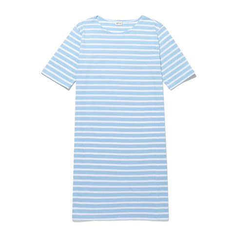 The Tee Dress - Scandi Blue/Cream