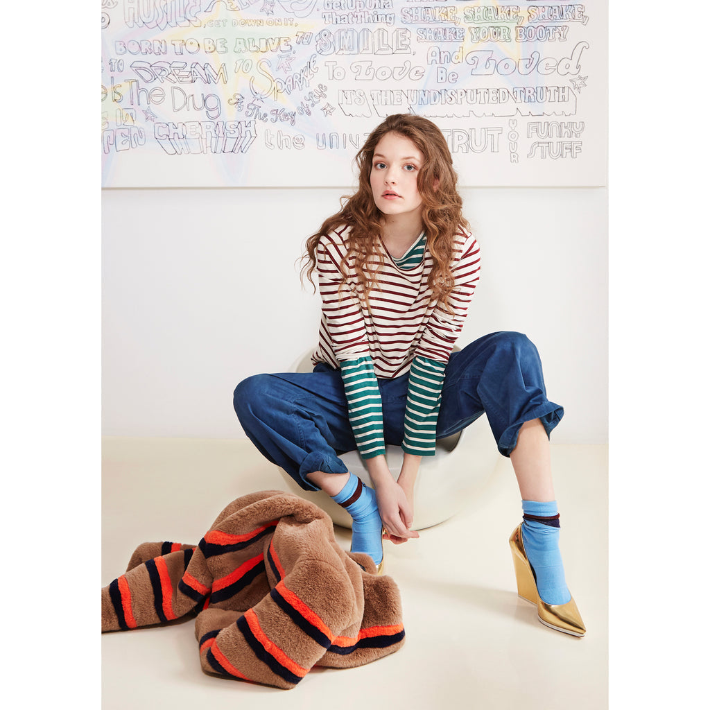 The LOVE Sock on Model