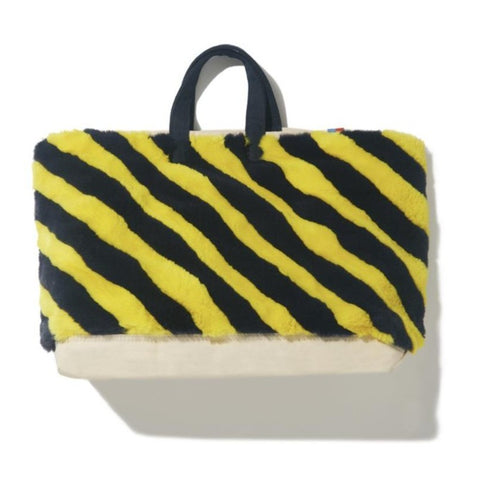 The Faux Tote - Yellow/Navy