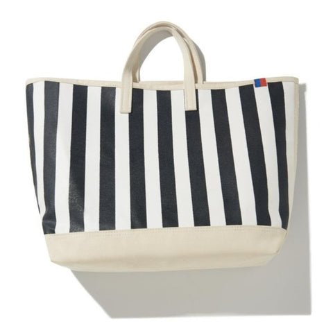 The Striped Tote - Black/White