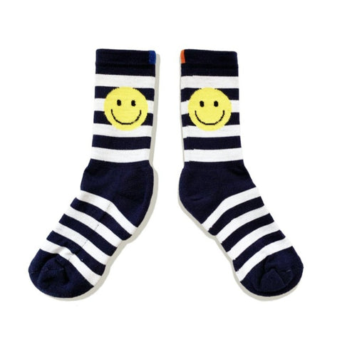 The Women's Rugby Smile Sock - Navy/White