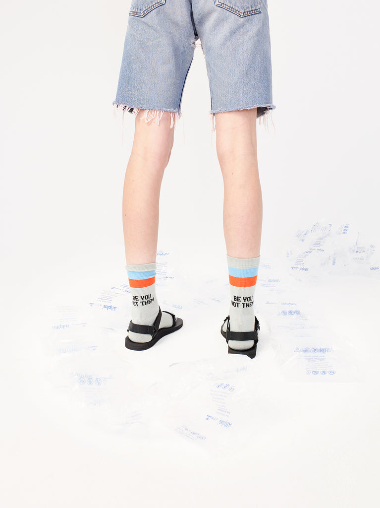 The Be You Not Them Sock - Grey