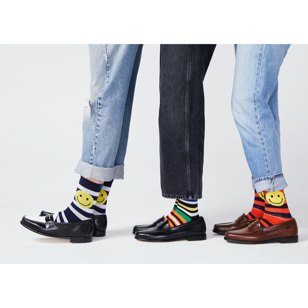The Men's Rugby Smile Sock - Navy/White