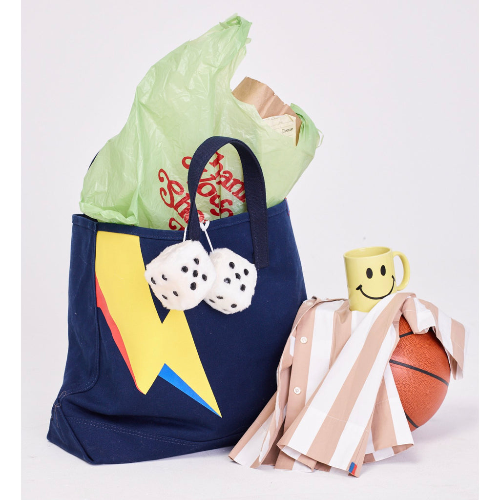 The Bolt Tote - Navy with accessories