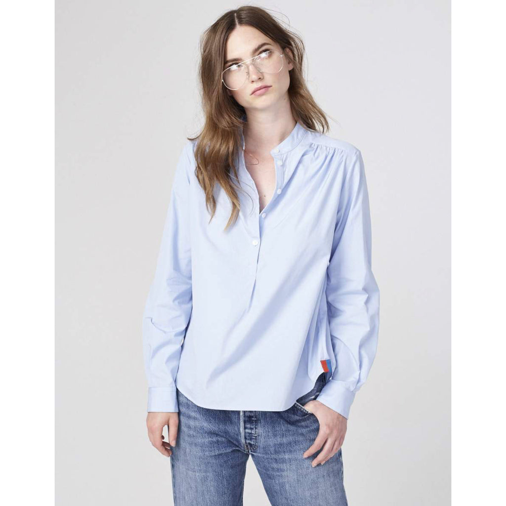 The Brooke - Blue on model with jeans