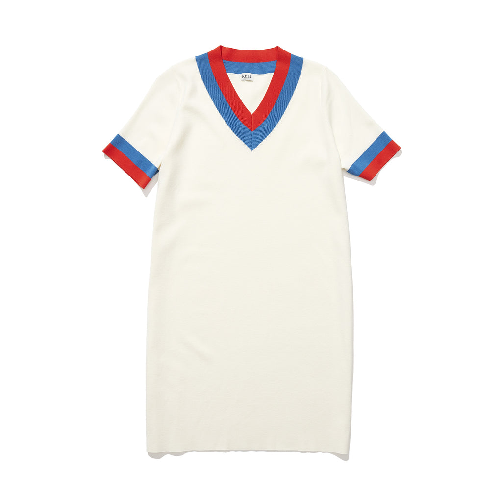 The Serena - Cream/Royal Blue/Red