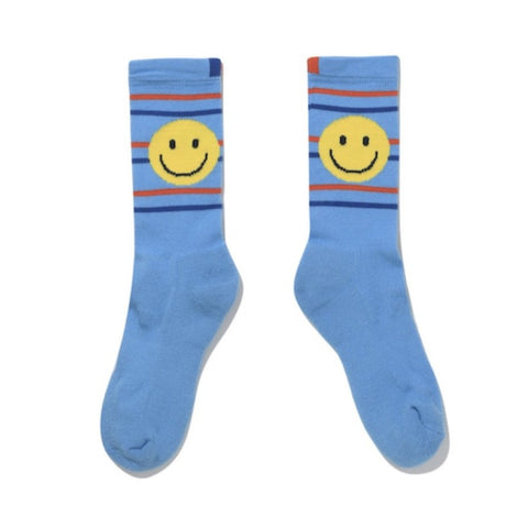 The Men's Smile Line Sock - Light Blue