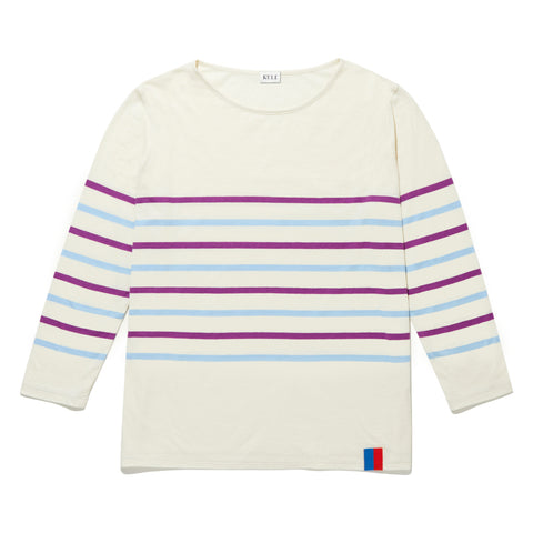 The Malibu - Cream/Violet/Scandi Blue