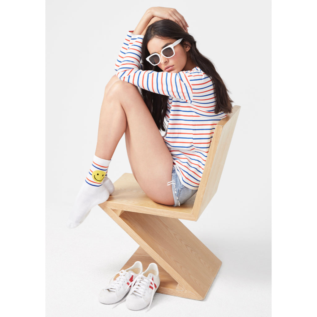 The Women's Smile Line Sock - White