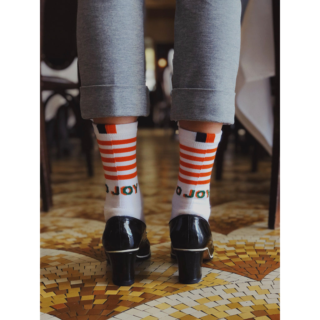 The Men's O JOY Sock - White