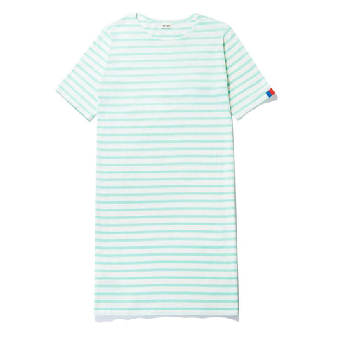 The Tee Dress - White/Mint