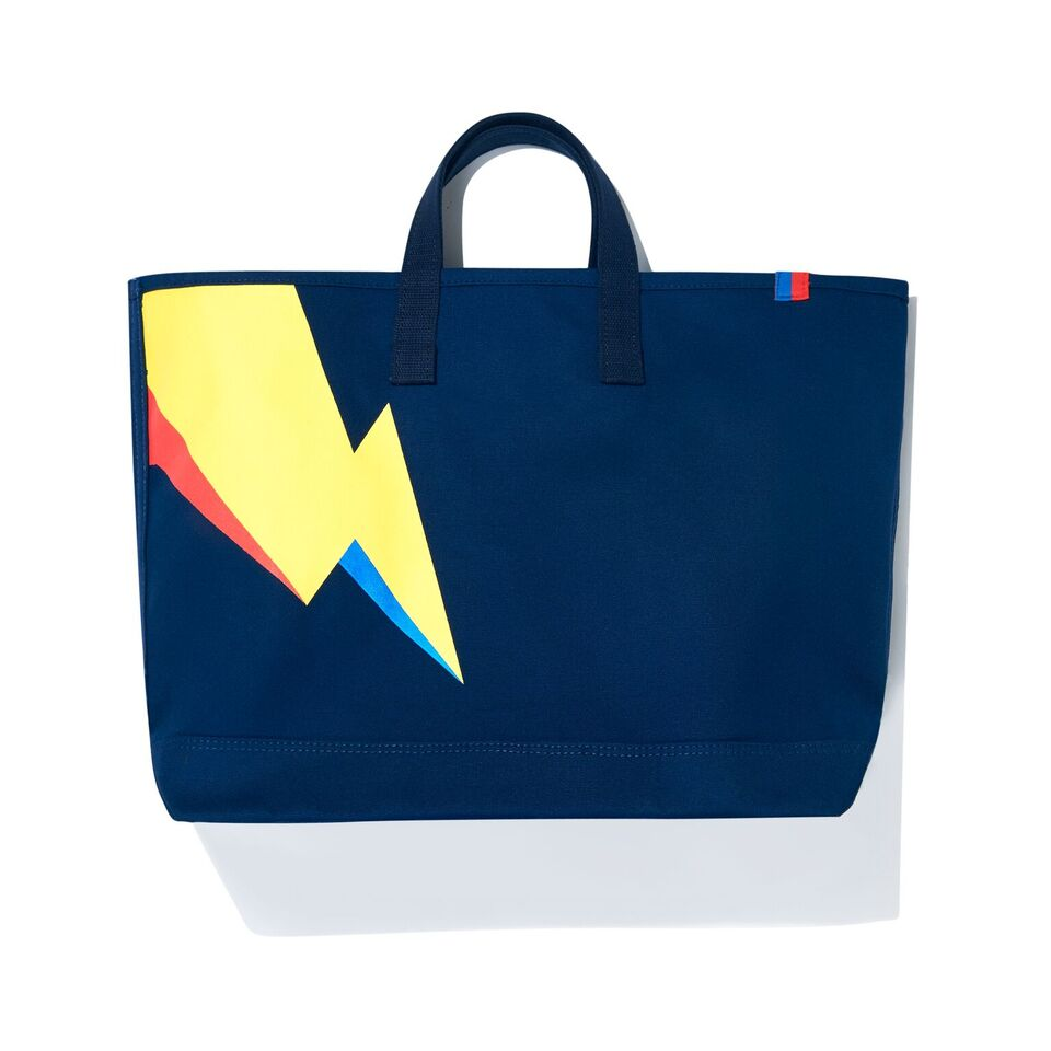 The Bolt Tote - Navy FLat