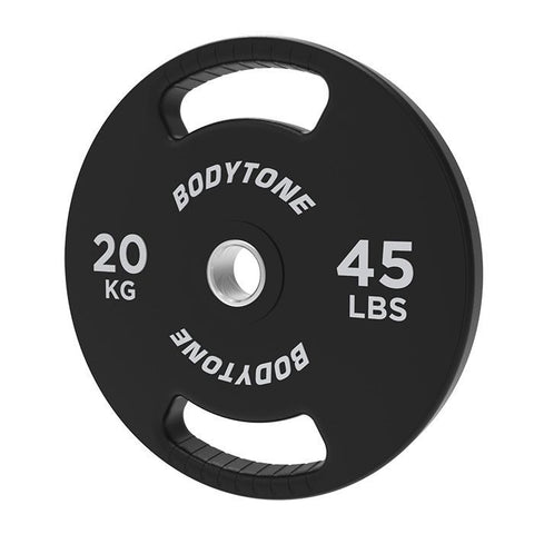 Olympic Barbell and 100kg Urethane Bodytone Plate Set