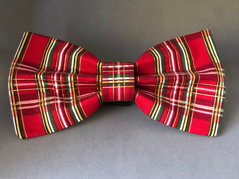 Dog Bow Tie - Holiday Plaid