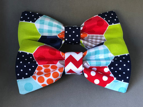 Dog Bow Tie - Geometric Octagon