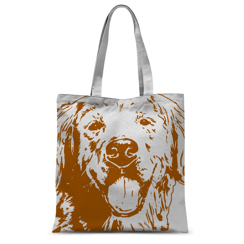 Golden Retriever Tote Bag - Brown