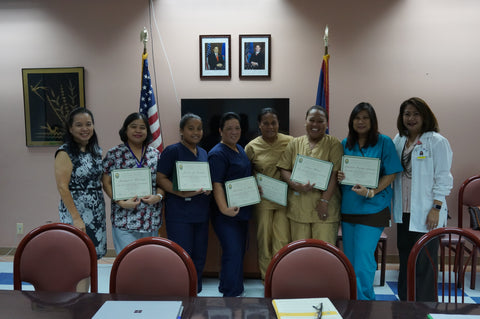 Pohnpei nurses and nursing educators complete their training program.