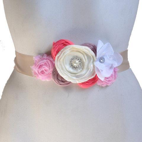 Maternity Flower Sash