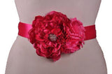 Double Flower Pregnancy Sash