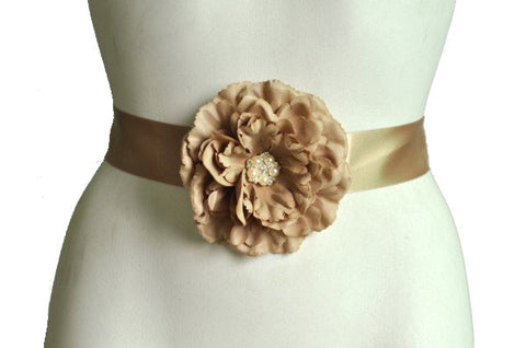 Baby Shower Sash For Mom | Beige