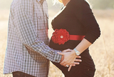 Pregnancy Belly Sash |  Red