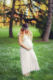 Boho Maternity Dress |  White Lace