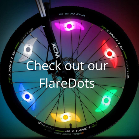 Flare Dots CycleLights Bicycle Recumbent Wheel Lights