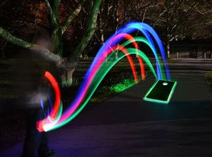 Tap and Toss Pro Glow Sports  LED Light up cornhole bag tap n toss bags