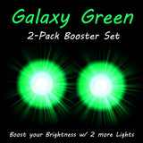 2 Galaxy Green Booster Rip Flares Pro Glow Sports
