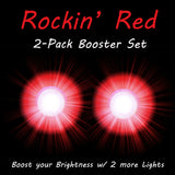 2 Rockin Red Booster Rip Flares Pro Glow Sports