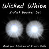 2 Wicked White Booster Rip Flares Pro Glow Sports