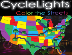 cyclelights cross country tour map