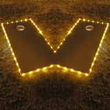 Cornhole Edge Lights Gold - Pro Glow Sports - 1