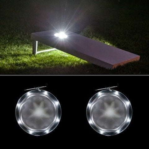 Corn Hole Lights White - Pro Glow Sports - 1