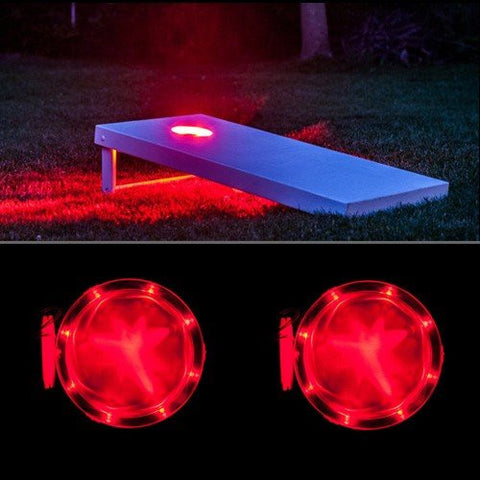 Corn Hole Lights Red - Pro Glow Sports