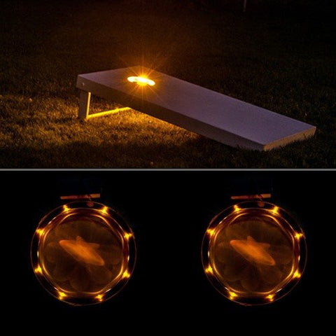 Corn Hole Lights Amber - Pro Glow Sports