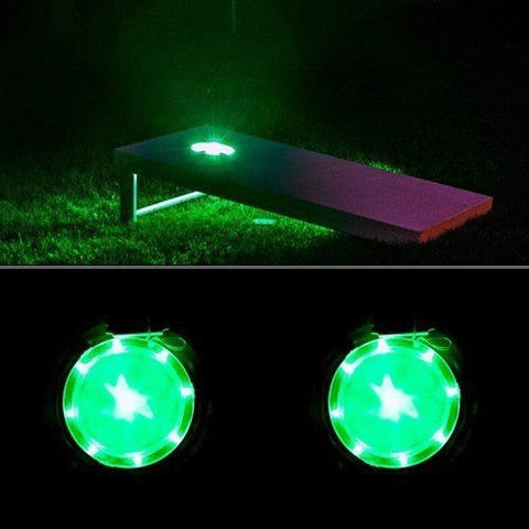 Corn Hole Lights Green - Pro Glow Sports