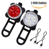 LE® Rechargeable LED Bike Light Set - Pro Glow Sports - 1