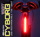Blitzu Cyborg 168T Rechargeable Tail Light - Pro Glow Sports - 2