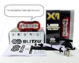 Blitzu Rechargeable Rear Tail Light - Pro Glow Sports - 7
