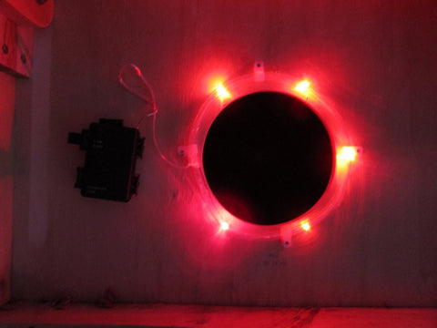 Pro Glow Hole Cornhole Lights Red