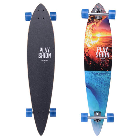 "Playshion 42"" Pintail Longboard Skateboard Cruiser"