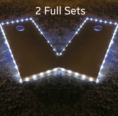 Cornhole Edge Lights White