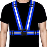 Ultra-Reflective Vest Blue - Pro Glow Sports - 1