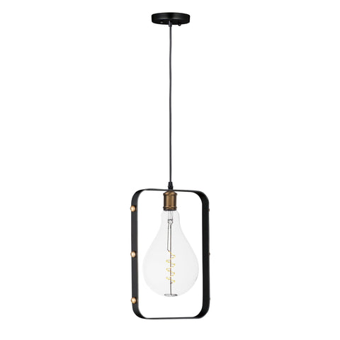 Early Electric 1-Light Pendant with A50 LED Bulb