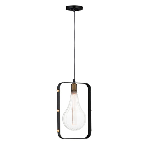 Early Electric 1-Light Pendant with A52 LED Bulb