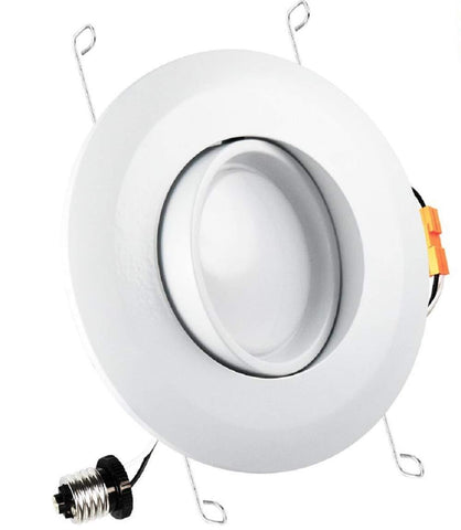 14W 5/6 Inch Gimbal LED Recessed Lighting Fixture 120W Equivalent, Energy Star, Adjustable Downlight, Dimmable, ETL Listed