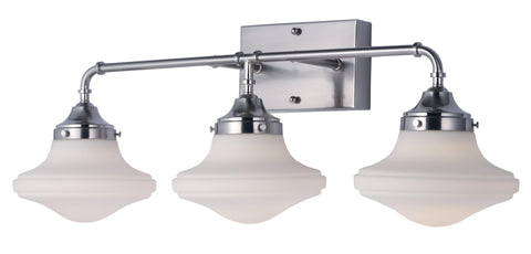 New School 3 Light LED Bath Vanity